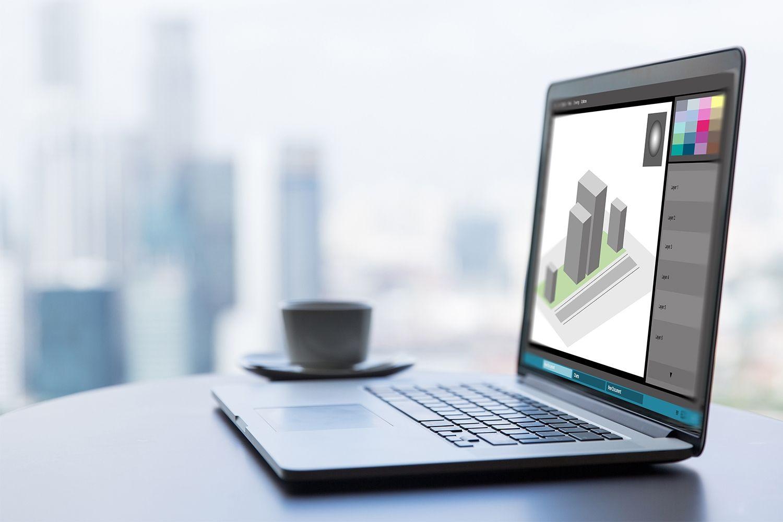 그래픽 디자인 작업용 노트북