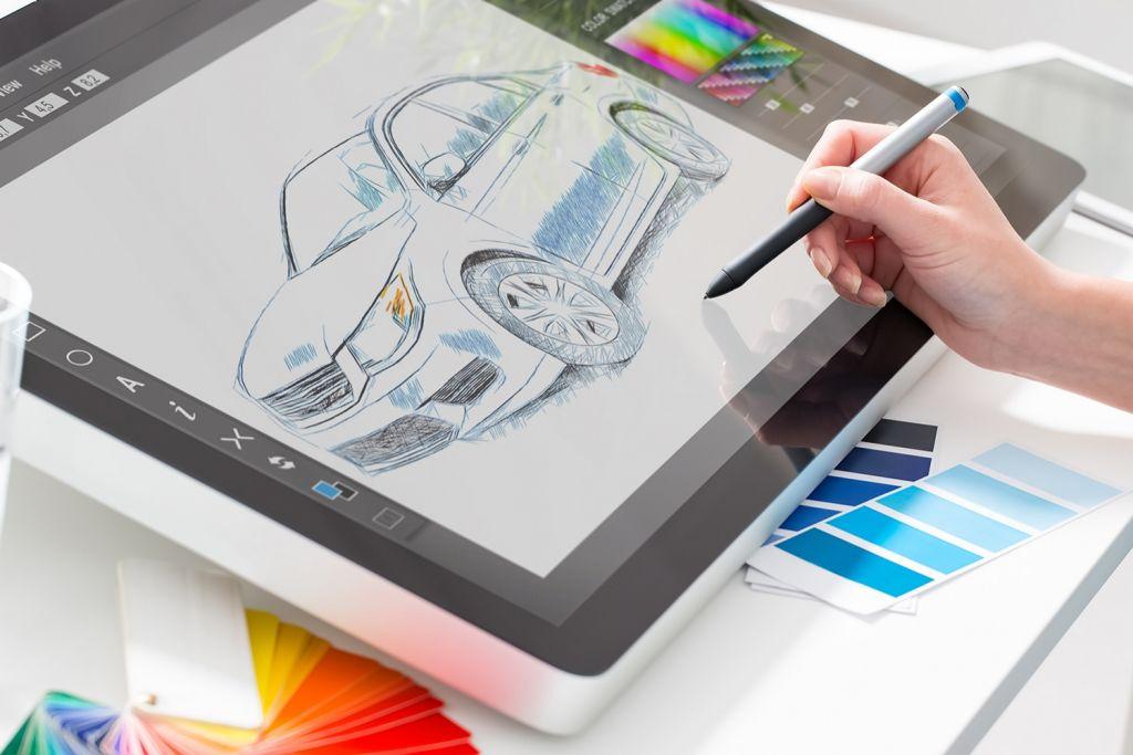 드로잉 태블릿을 사용한 그래픽 디자인