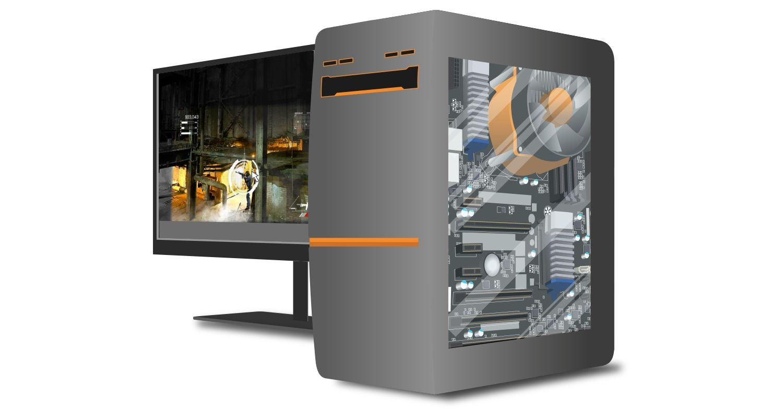 게임플레이에 특화된 게임용 컴퓨터와 모니터