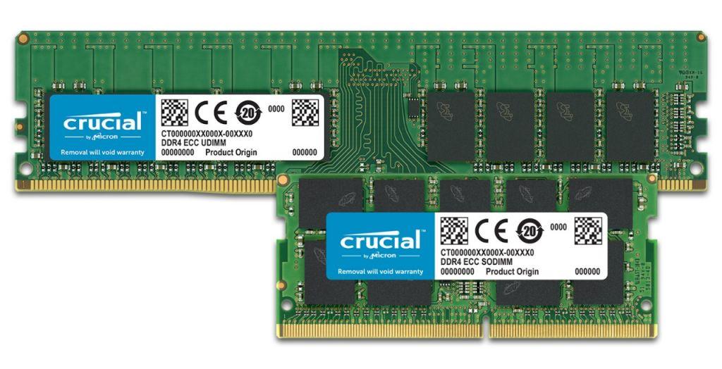 ECC Crucial 메모리.