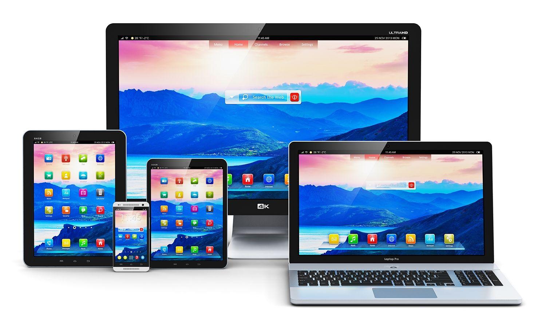 데스크톱 컴퓨터, 노트북, 태블릿 및 휴대폰