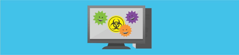컴퓨터 바이러스는 데스크톱 컴퓨터를 공격합니다.
