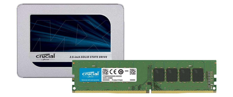 Crucial SSD 및 RAM 메모리 모듈